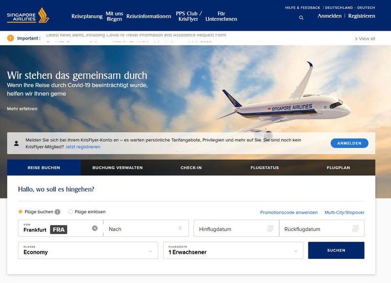Erfahrungen: Singapore Airlines